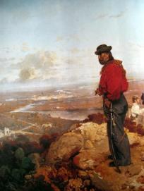 Gerolamo Induno. Giuseppe Garibaldi sulle alture di Sant'Angelo a Capua, 1861. Milano, Museo del Risorgimento.